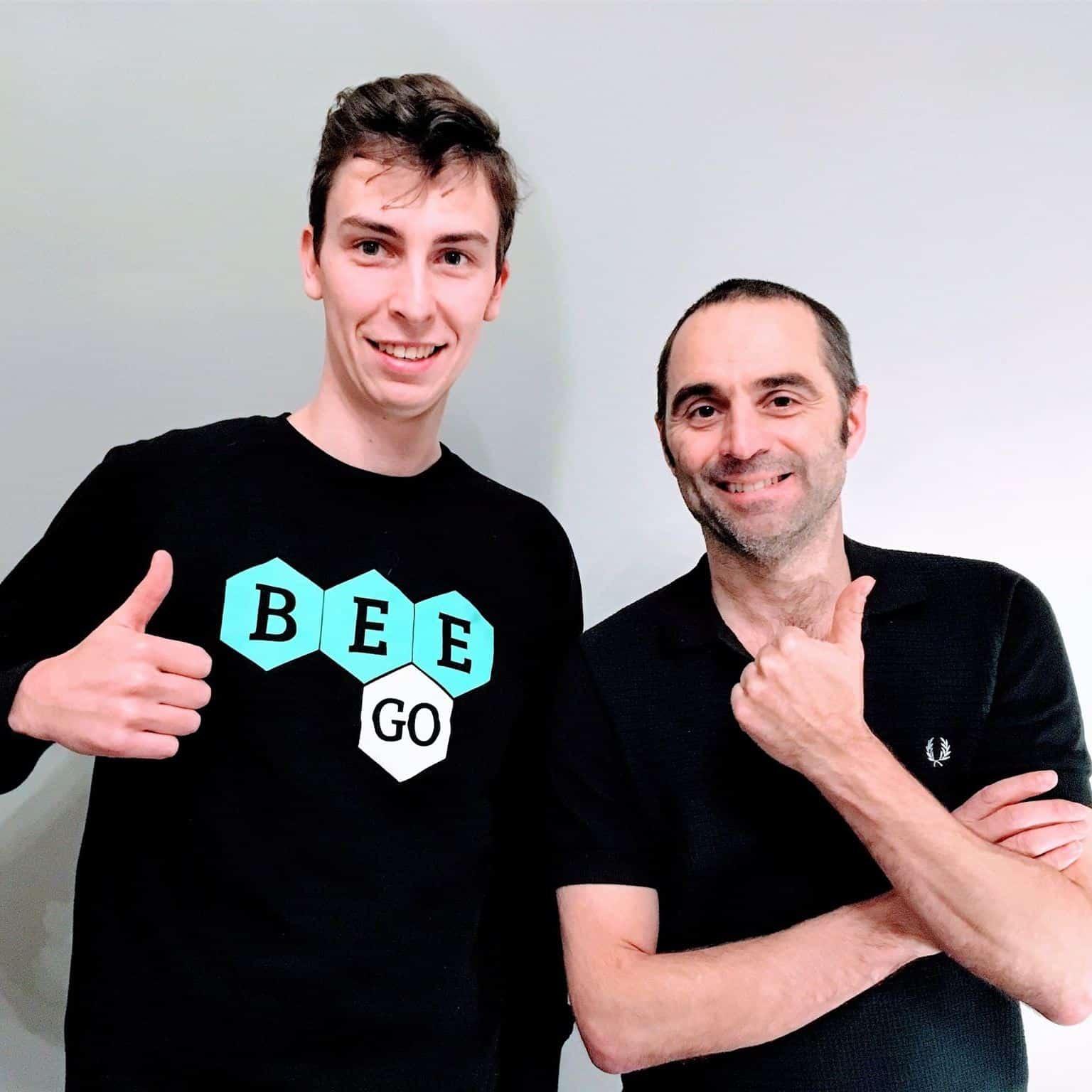 BEEGO student met Michael Pas