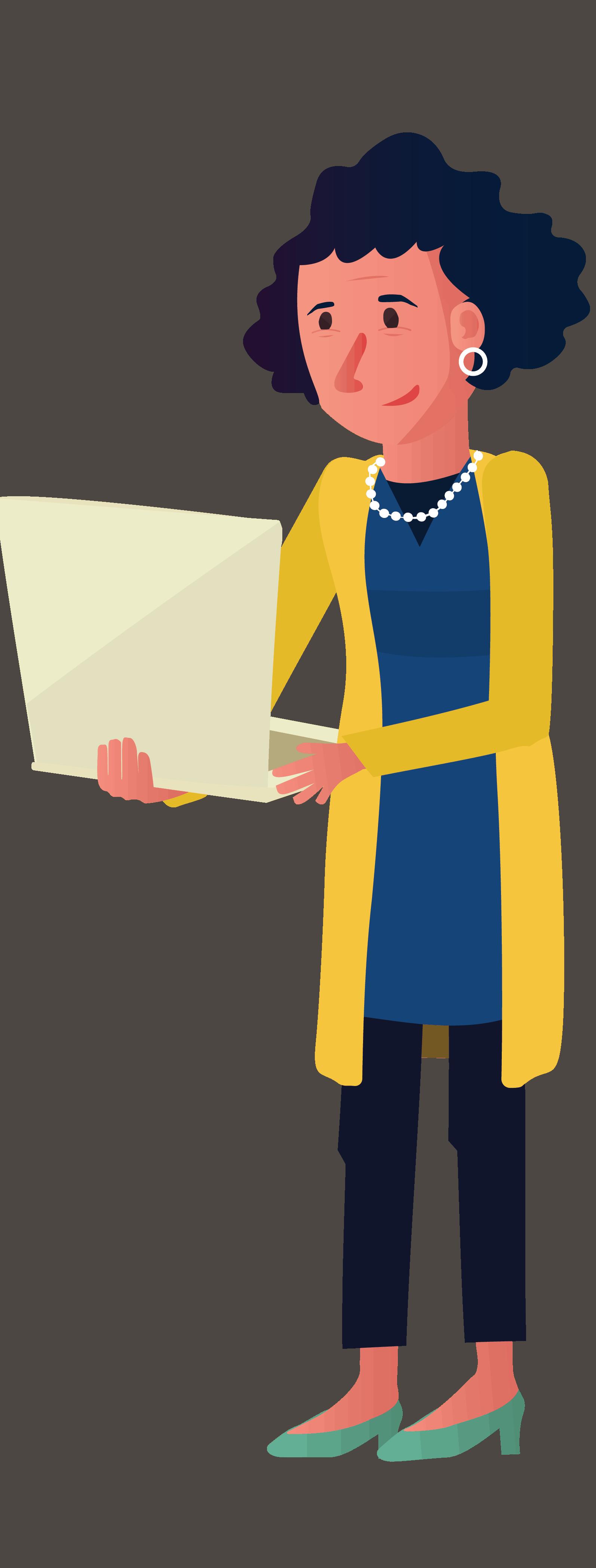 BEEGO vrouw met laptop