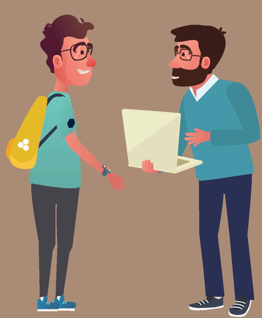 BEEGO Student met man