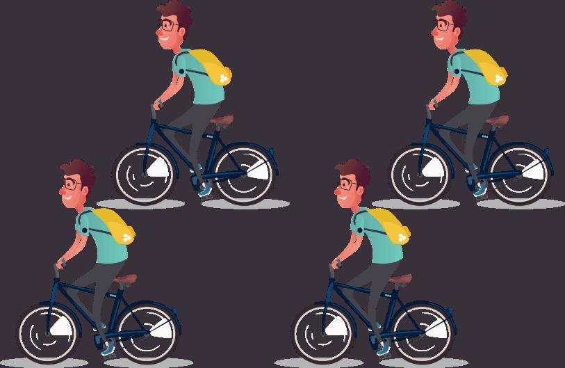 BEEGO Studenten op de fiets