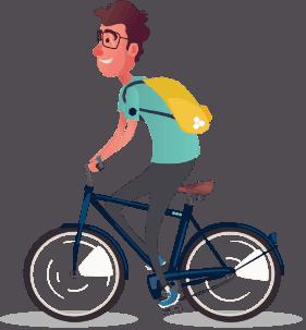 BEEGO student op de fiets