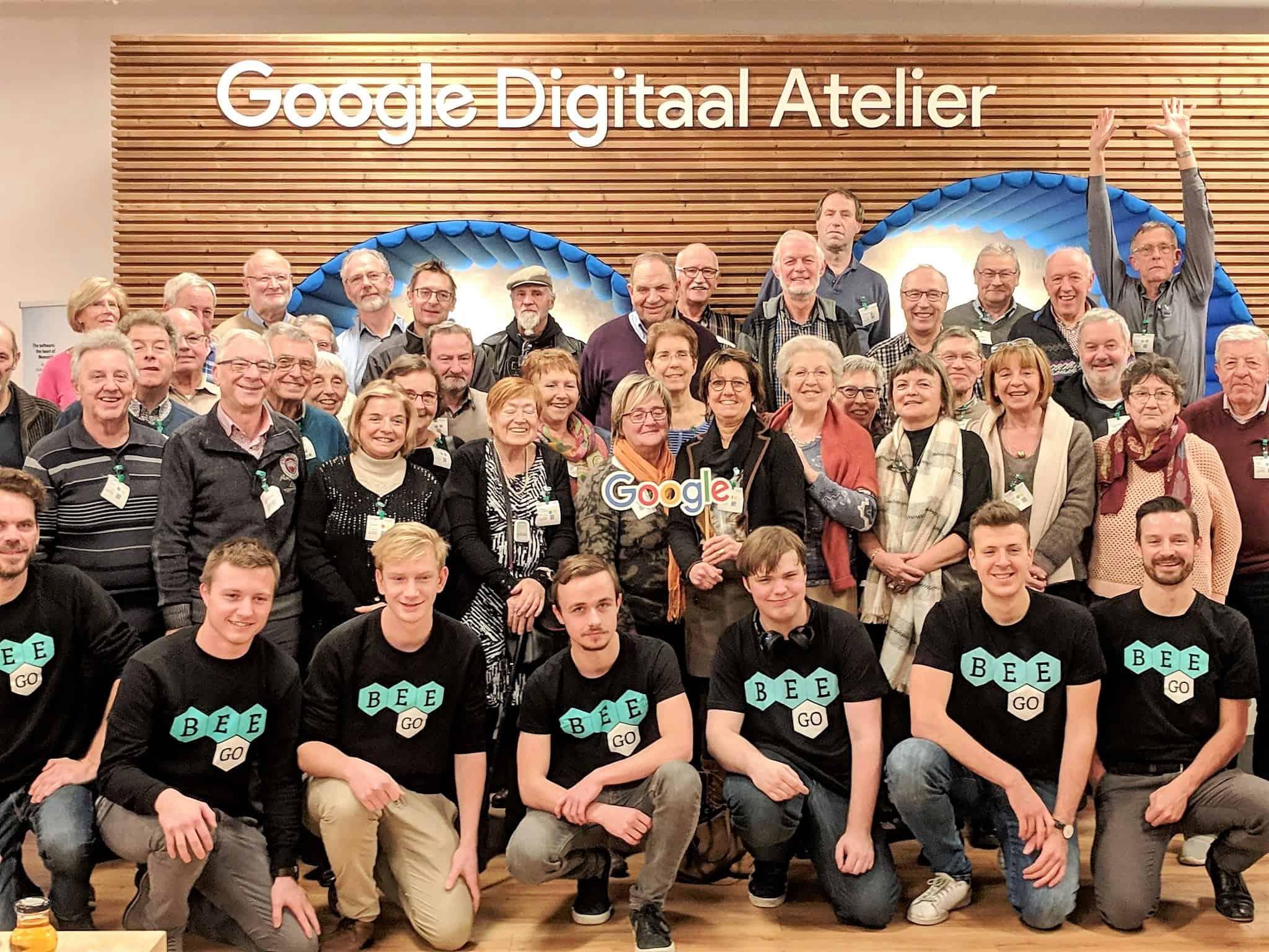groepsfoto BEEGO in het Google digitaal atelier