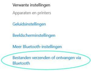 Bestanden verzenden of ontvangen via Bluetooth