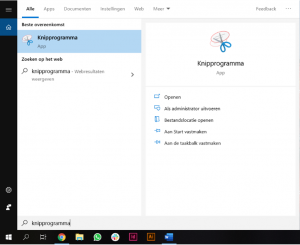 knipprogramma in Windows BEEGO