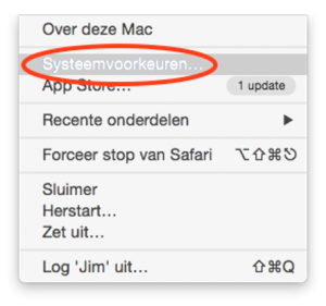 BEEGO Systeemvoorkeuren Apple