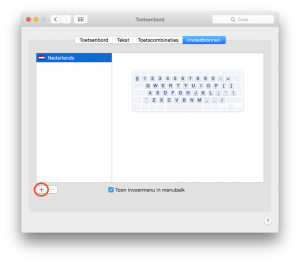 BEEGO invoerbronnen toetsenbord Apple
