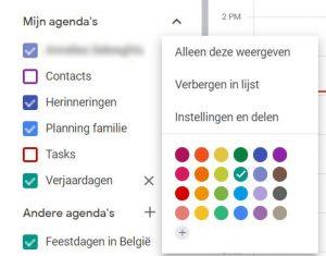 BEEGO Tip Google Agenda delen