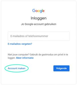 BEEGO Inloggen in Google