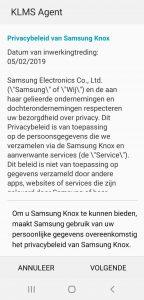 BEEGO Samsung Knox activeren