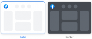 BEEGI donkere modus Facebook